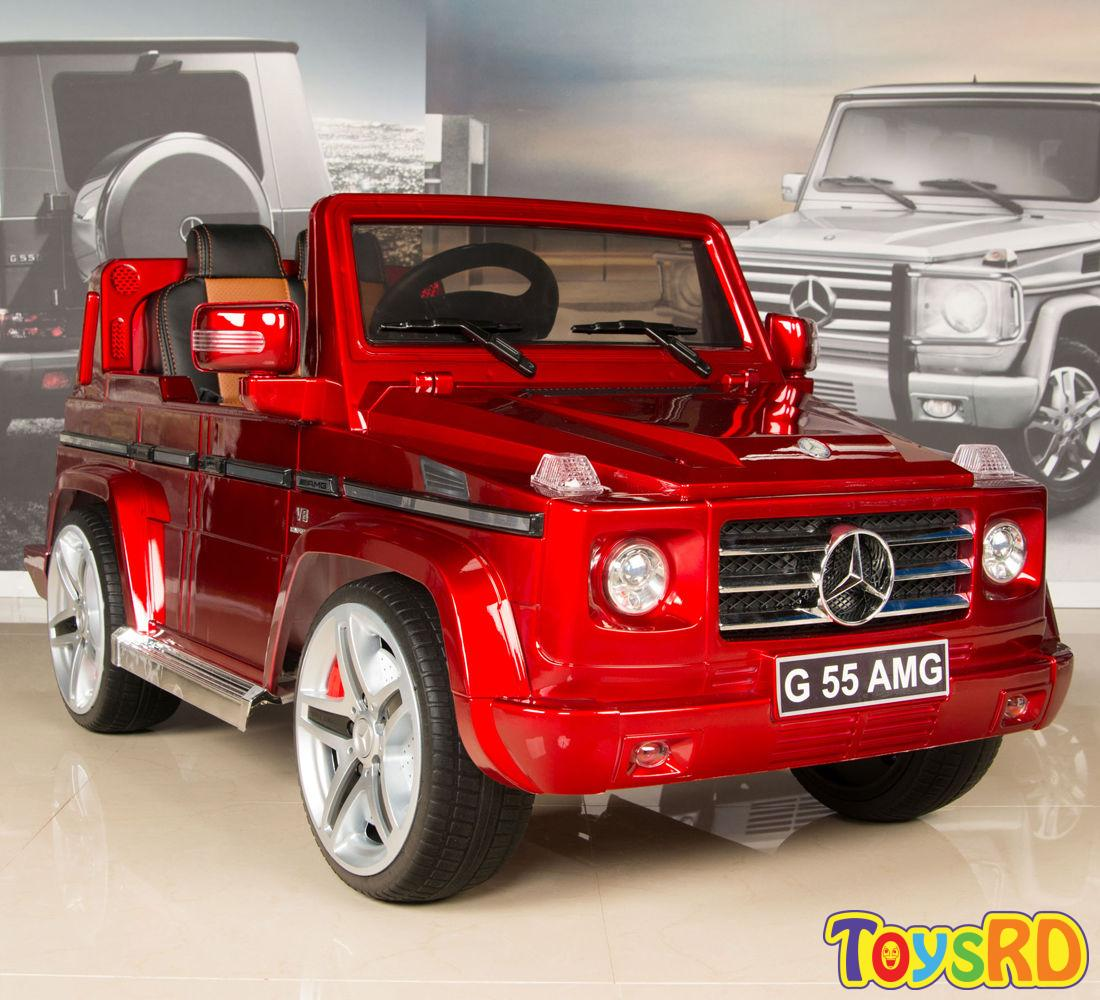 details about red mercedes g55 amg 12v kids ride on car battery power wheels w rc remote toys rd toys rd